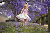 Pretoria, Jacaranda City  - girl with flowers (Gauteng).
